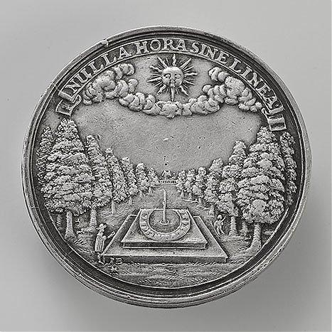 Medal z zegarem słonecznym