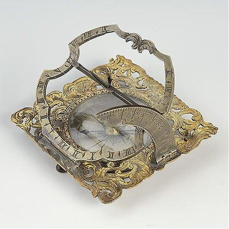 Zegar równikowy, przenośny, typu augsburskiego
