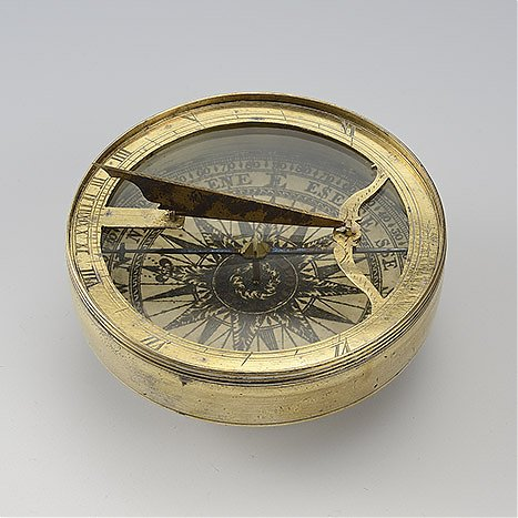 Zegar poziomy z kompasem, przenośny, dla rejonów zwrotnikowych