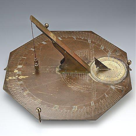 Zegar poziomy/pochyły typu Le Roy z funkcją zegara księżycowego