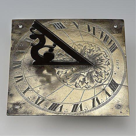 Zegar poziomy, ogrodowy albo parapetowy