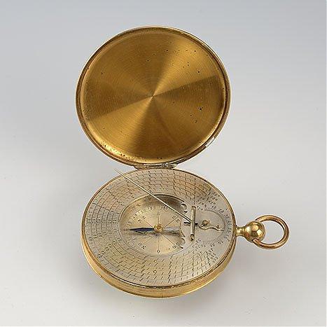 Automatyczny zegar poziomy z kompasem, przenośny